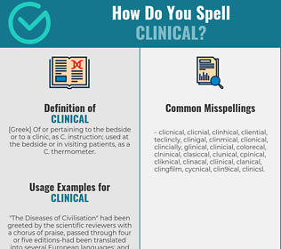 Correct spelling for clinical