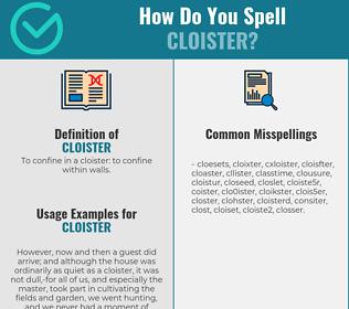 Correct spelling for cloister
