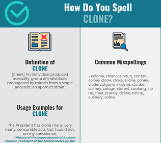 Correct spelling for clone