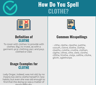 Correct spelling for clothe