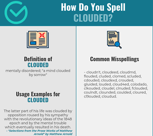 Correct spelling for clouded