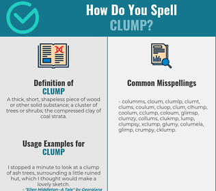 Correct spelling for clump