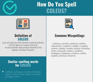 Correct spelling for coleus