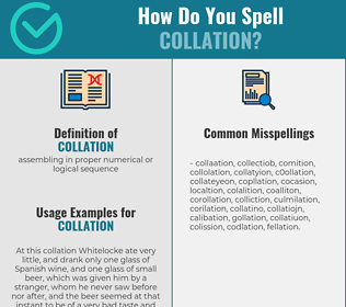 Correct spelling for collation