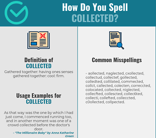 Correct spelling for collected
