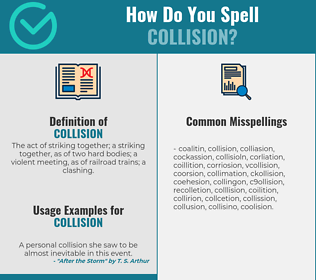 Correct spelling for collision
