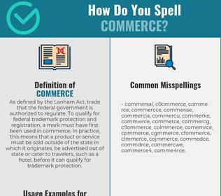 Correct spelling for commerce