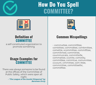 Correct spelling for committee