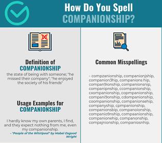 Correct spelling for companionship