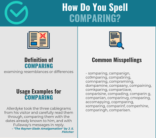 Correct spelling for comparing
