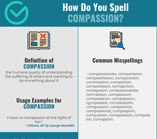 Correct spelling for compassion