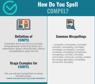 Correct spelling for compel