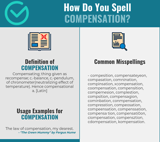 Correct spelling for compensation