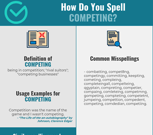 Correct spelling for competing