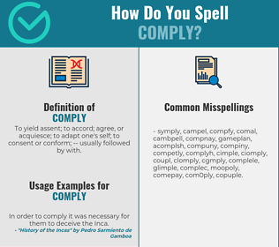 Correct spelling for comply