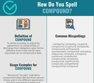 Correct spelling for compound
