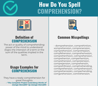 Correct spelling for comprehension