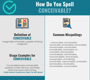 Correct spelling for conceivable