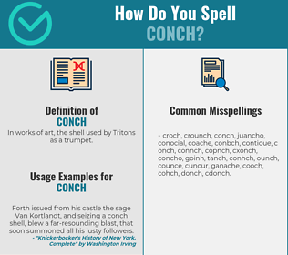 Correct spelling for conch