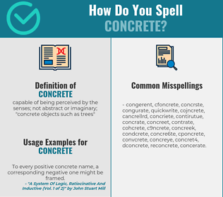 Correct spelling for concrete