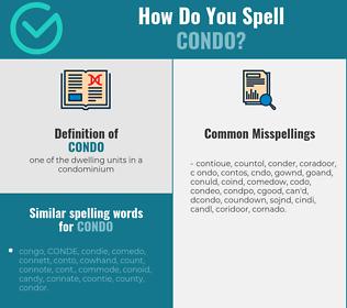 Correct spelling for condo