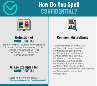 Correct spelling for confidential
