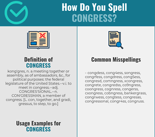 Correct spelling for congress