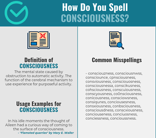 Correct spelling for consciousness
