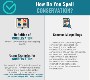 Correct spelling for conservation