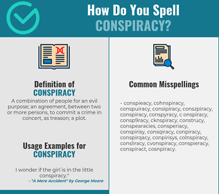 Correct spelling for conspiracy