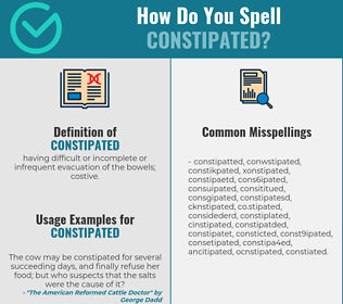 Correct spelling for constipated