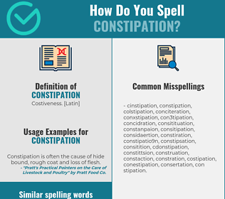 Correct spelling for constipation