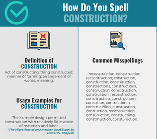 Correct spelling for construction