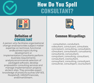 Correct spelling for consultant