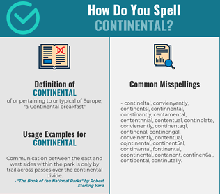 Correct spelling for continental