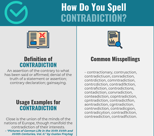 Correct spelling for contradiction