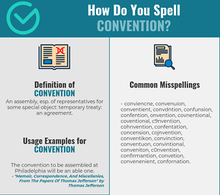 Correct spelling for convention