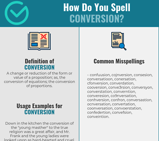 Correct spelling for conversion