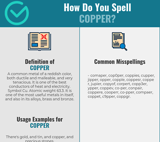 Correct spelling for copper