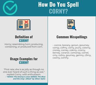 Correct spelling for corny