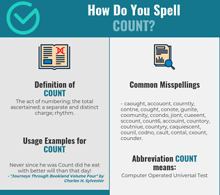 Correct spelling for count