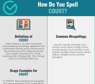 Correct spelling for court