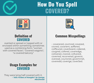 Correct spelling for covered