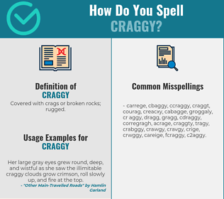 Correct spelling for craggy