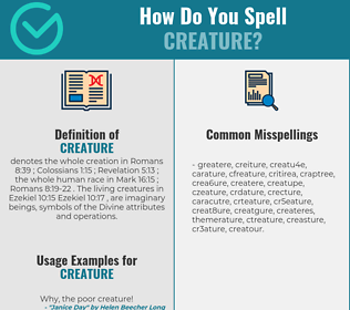 Correct spelling for creature