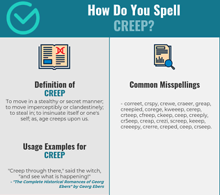 Correct spelling for creep