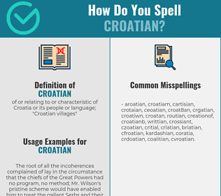 Correct spelling for croatian