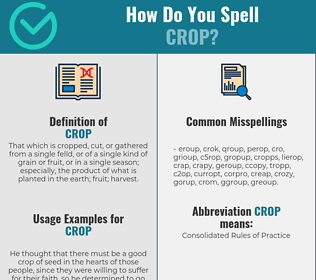 Correct spelling for crop