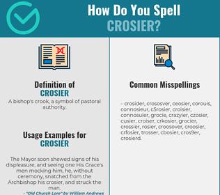 Correct spelling for crosier