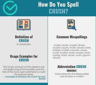 Correct spelling for crush